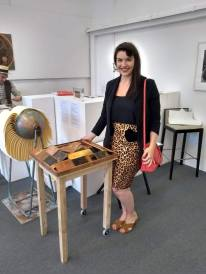 With artist Nickie Hayden's fantastic Haiku story wheel and printed copper plates.